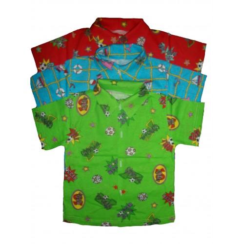 Сорочка кольорова з коротким рукавом (Кулір)