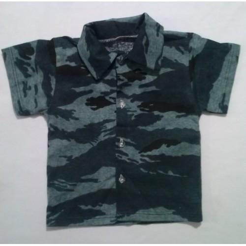 """Сорочка для хлопчика з коротким рукавом """"Military"""" (Кулір)"""