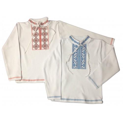 Вышиванка с длинным рукавом для мальчика (интерлок)