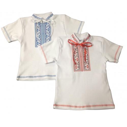 Вышиванка с коротким рукавом для мальчика (интерлок)