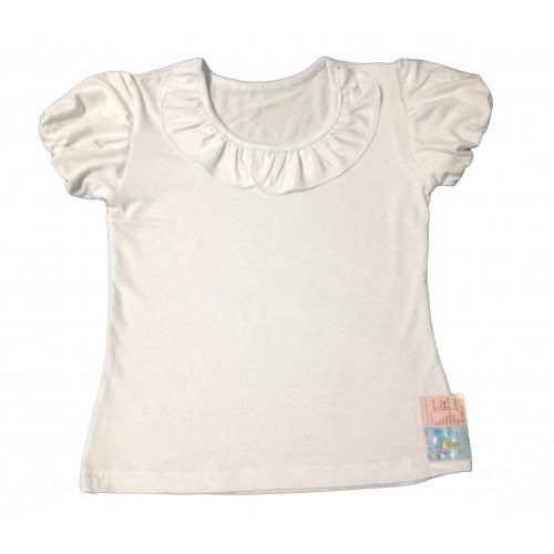 """Блуза """"Шкільна"""" з коротким рукавом (Віскоза)"""