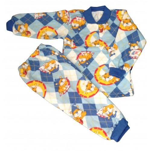Пижама цветная на 2-х пуговицах на манжетах  (начес)