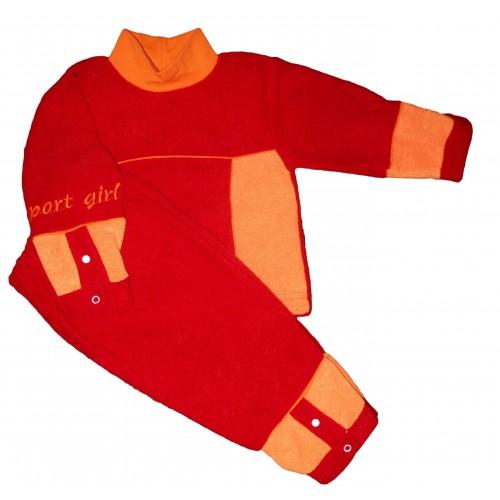 Костюм «Спорт»: джемпер и брюки комбинированные с вышивкой (махра начесная)
