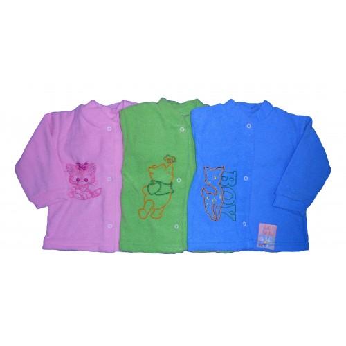 Комплект с вышивкой: кофта, штанишки на манжетах, шапочка (махра начесная)