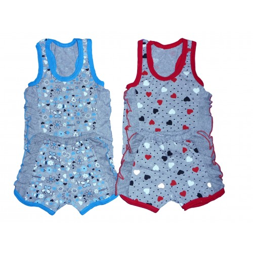 Комплект «Сашенька»: майка и шорты с воланами (кулир комбинированный)
