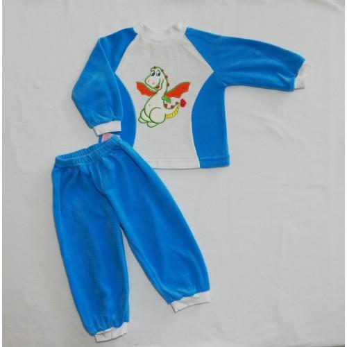 Комплект дитячий з вишивкою (Велюр)