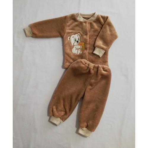 Комплект «Пухнастик»: кофточка з вишивкою, штанці  (Махра рвана)