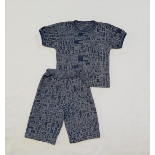 Комплект: футболка та шорти з карманами (лакоста)